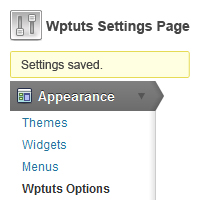 Using The Settings API: Part 1 &#8211; Create A Theme Options Page