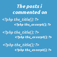 Creating a Custom 'The Posts I Commented On' Loop