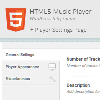 HTML5 WordPress Music Player & Settings Page Integration