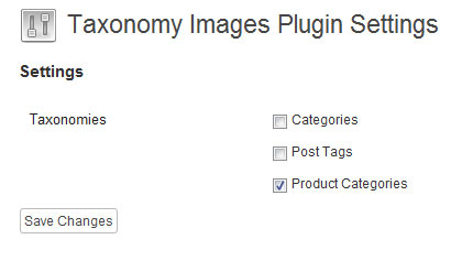 Taxonomy Images Plugin Settings Page