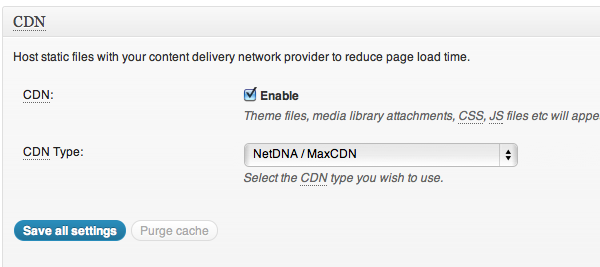 Enable MaxCDN