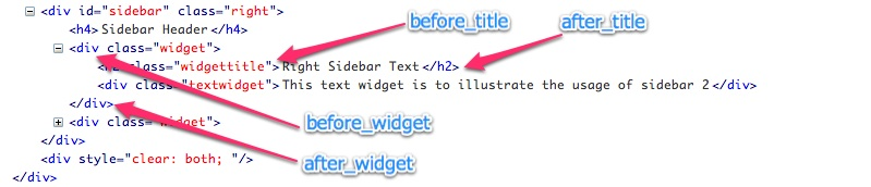 Widget HTML Output