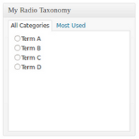 How to Use Radio Buttons With Taxonomies
