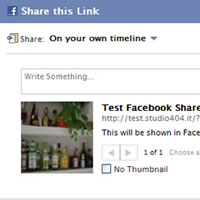 Share Your Posts on Facebook With a Preview Image and a Description