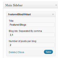 A Featured Blog Plugin for WordPress Multisite