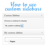 How to Use Custom Sidebars on Posts and Pages