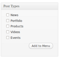 Add Post Type Archive Links to Your Menu