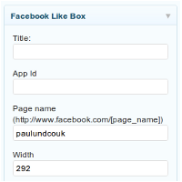 Facebook Like Box Widget for WordPress