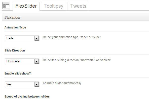 Options Framework jQuery Settings