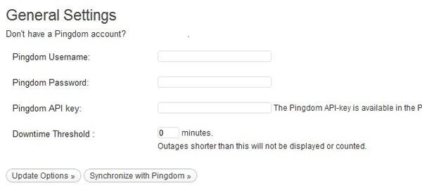 Pingdom settings