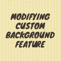 Modifying Custom Background Feature for Any HTML Element You Want