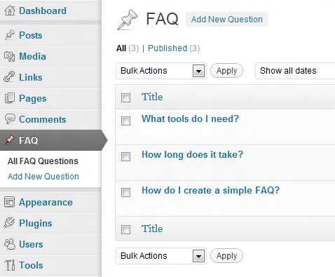 Create an FAQ Accordion for WordPress With jQuery UI | Wptuts+